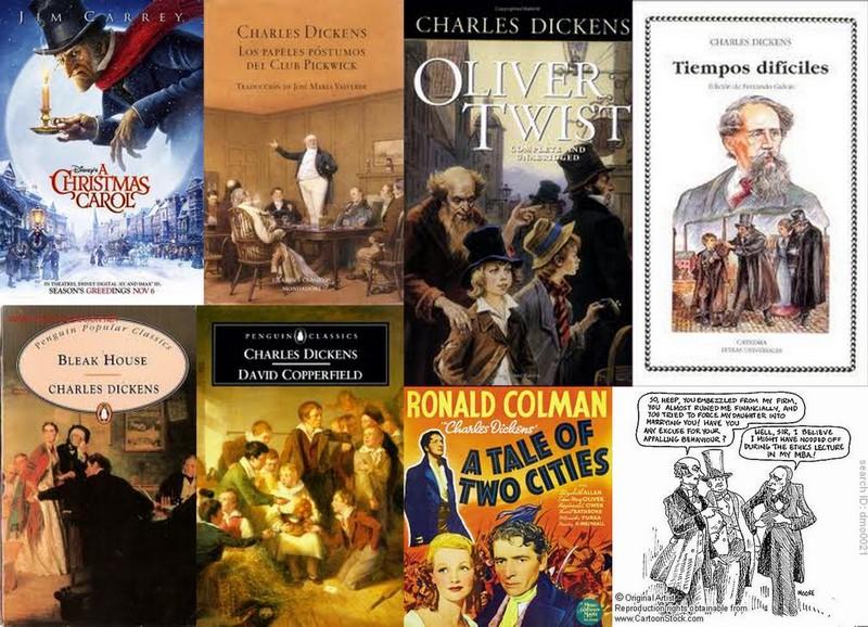 Resultado de imagen para charles dickens libros collage